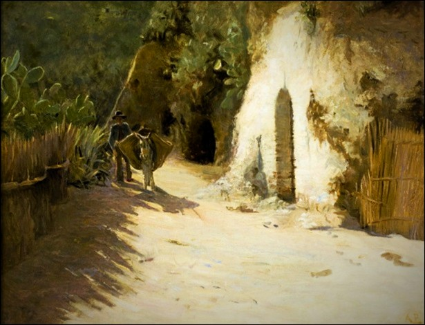Landscape In Southern Europe by Anne Petersen. Image: the-athenaeum.org.