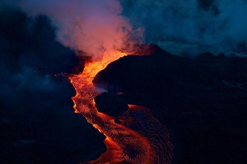 Kilauea's Fissure 8 cone, 2018. Image: USGS.