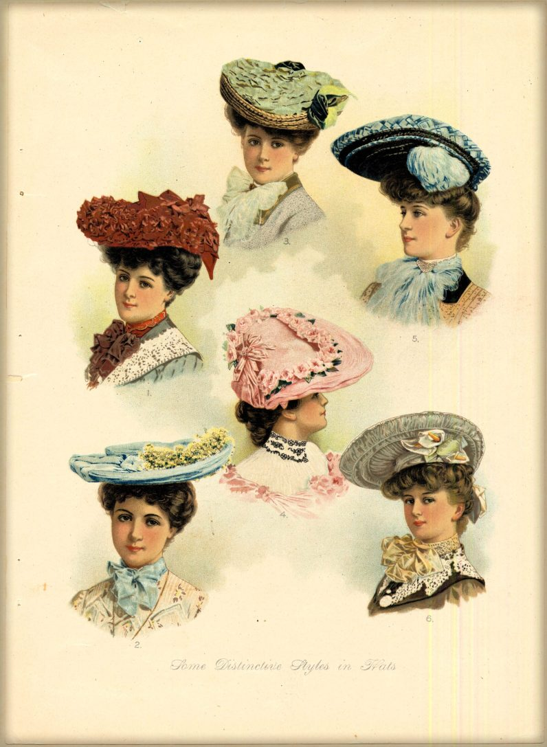 Hat Styles, 1903. Image: Claremont College Digital Library.
