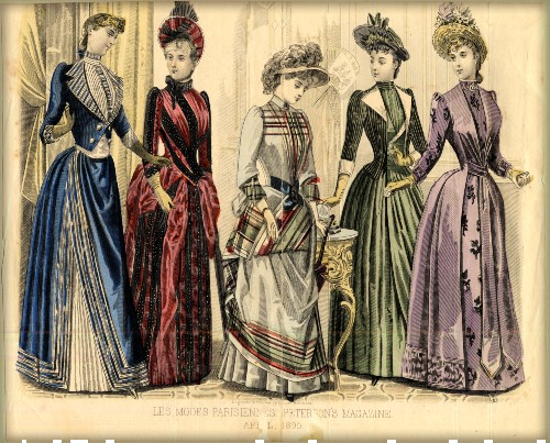 Spring Fashion, Spring 1890. Image: Image: Claremont College Digital Library.