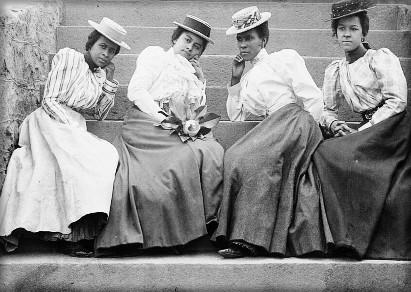 Four Students, Atlanta University, c. 1890s. Image: Library of Congress.