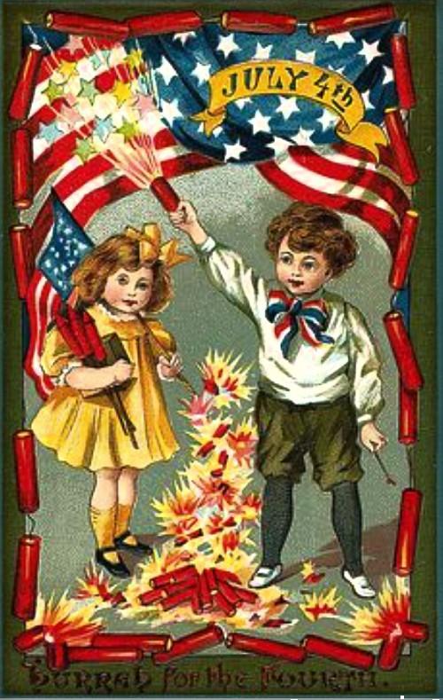 2-2 kids shoot fireworks