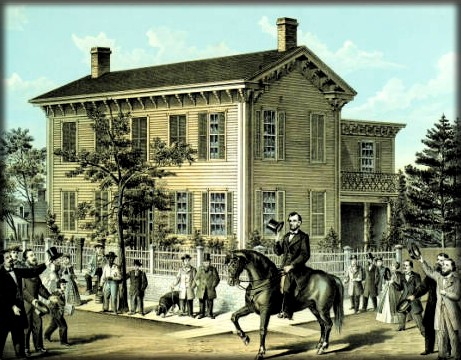 Lincoln Home Springfield, c. 1860. Image: Indiana Historical Society.