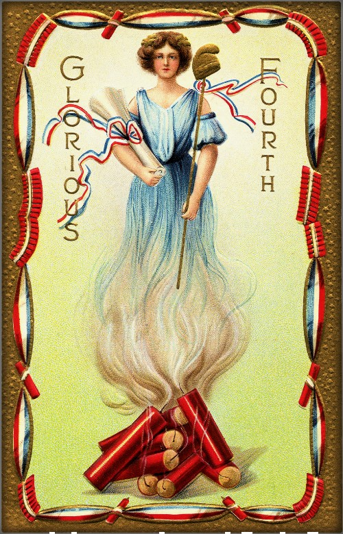 Vintage July Fourth Cards. Image: Graphics Fairy.