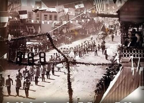 Victorian July Fourth Parades-Deadwood, South Dakota, 1888. Image: Vintage Everyday.