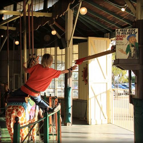Balboa Park Carousel Brass Ring Grab. Image: Friends of Balboa Park.