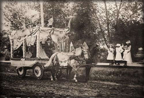 Victorian July Fourth Parades-Loganville, Wisconsin, c. 1890s. Image: Sauk County Historical Society.