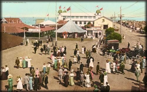 Coronado Tent City Amusement Park, 1898. Image: New York Public Library.