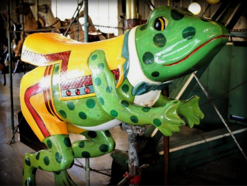 Balboa Park Carousel, Frog. Image: Friends of Balboa Park.