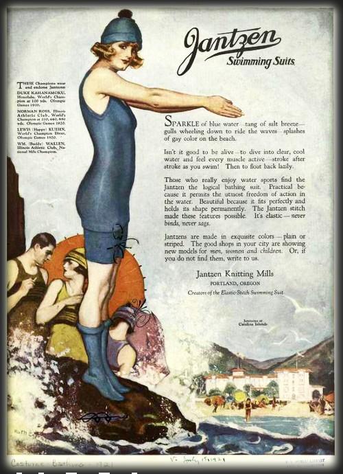 Jantzen Ad, 1920s. Image: Library of Congress.
