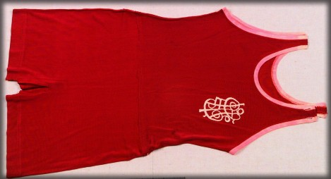 Annette Kellermann, Red Swimsuit, c. 1910. Image: Museum of Applied Arts and Sciences, Sydney. (MAAS)