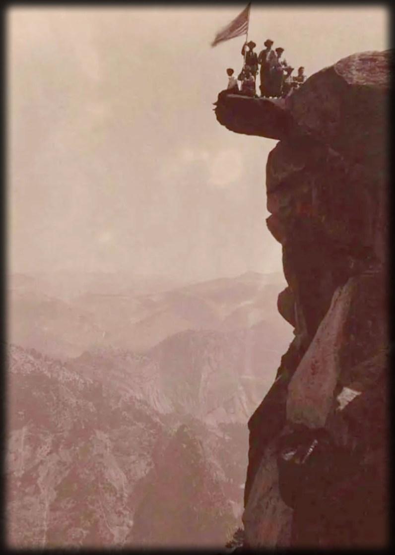 Victorian Glacier Point Tourists, Yosemite National Park, 1890's Image: The Bancroft Library, University of California, Berkeley.