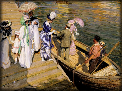 The Ferry by E Phillips Fox c. 1910. Image: Wikipedia.