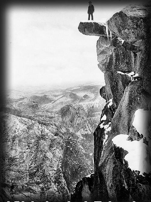 Glacier Point, Galen Clark, c. 1900. Image: digitalLibrary.usc.edu.