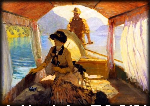 On Lake Lucerne, 1881 by Giuseppe De Nittis. Image: Athenaeum.org.