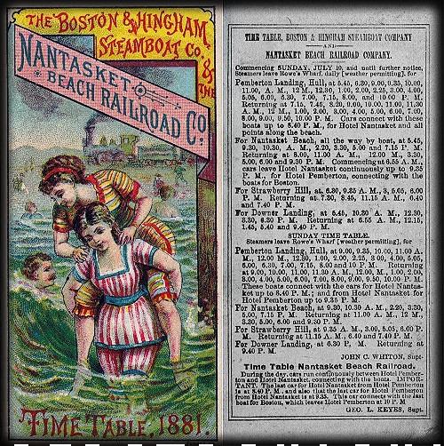 Victorian Seaside Images, Nantasket Beach Railroad, 1881. Image: Wikipedia.