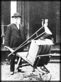 George Fiske With Camera Rig in Yosemite, c. 1890s. Image: Historic Camera.