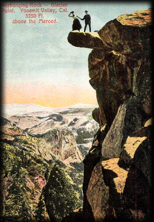 Couple at Glacier Point, c. 1890s. Image: Library of Congress.