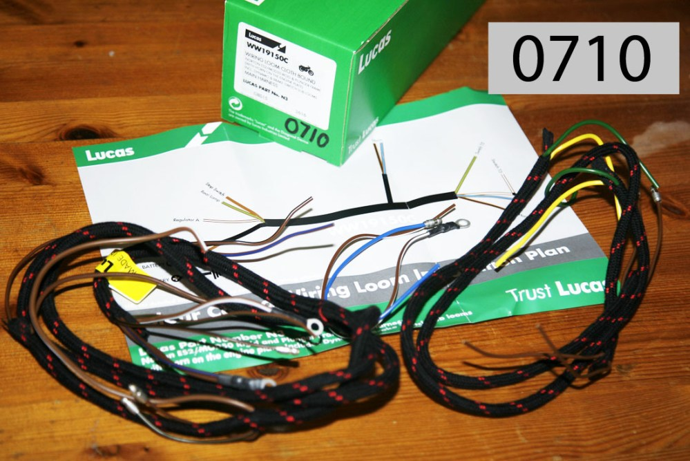 medium resolution of wiring harness for rigid plunger singles sohc ohv sv by lucas horn at front fitting