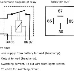 5 Prong Relay Wiring Diagram 2012 Ford Focus Radio 30a 4 Pin Free Engine Image For User