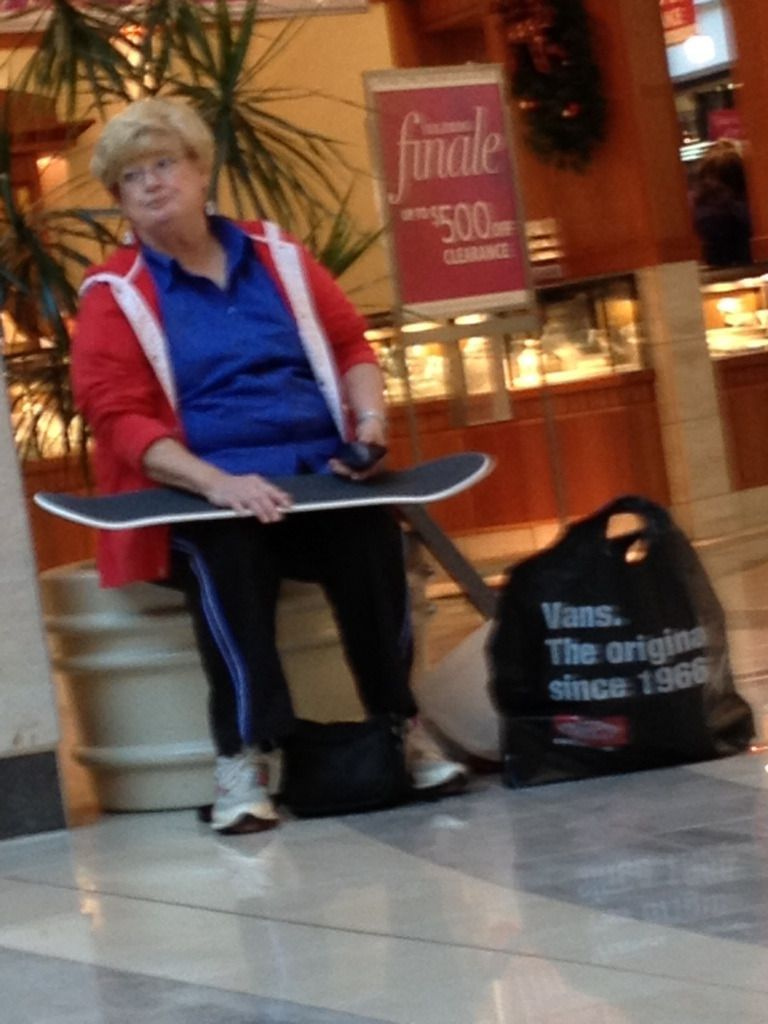 I'm getting tired of these skater punks at the mall.