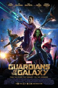 Poster for 2014 superhero action movie Guardians of the Galaxy