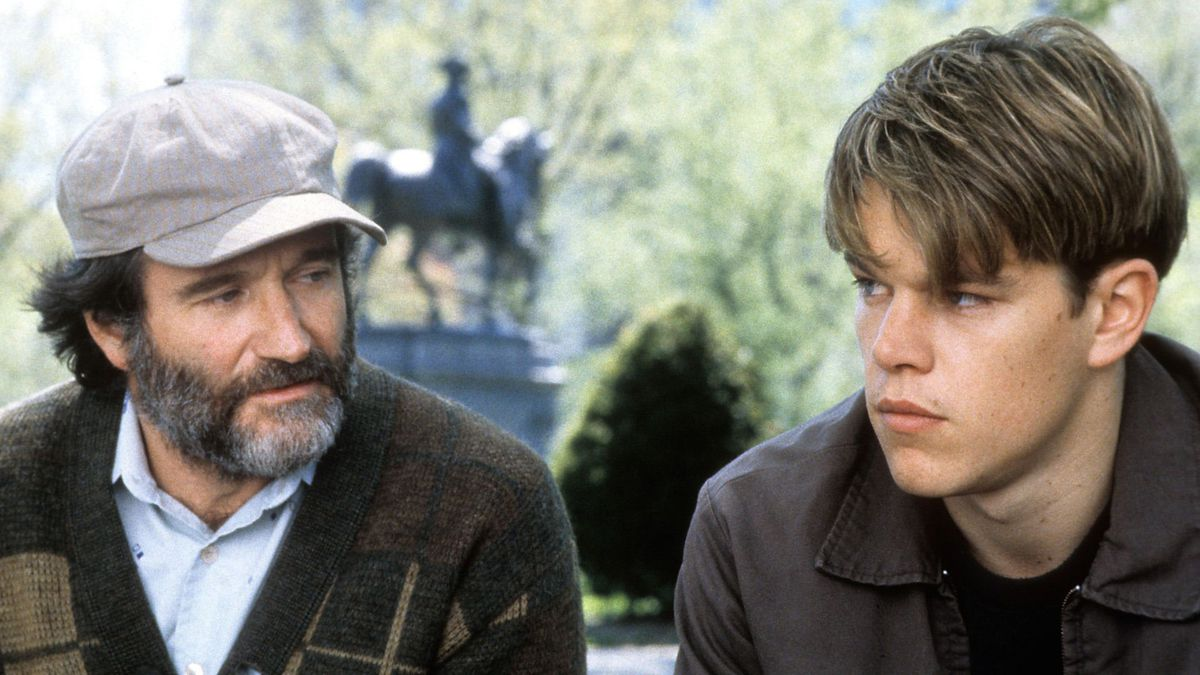 Robin Williams And Matt Damon In 'Good Will Hunting'