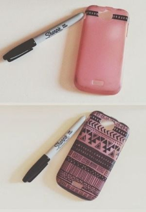 sharpie phone cases case diy simple iphone sharpies drawing designs posca mashable upgrade unexpected pieces marker pens painting takes markers
