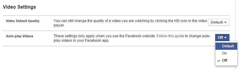 cara mematikan video auto playing di Facebook