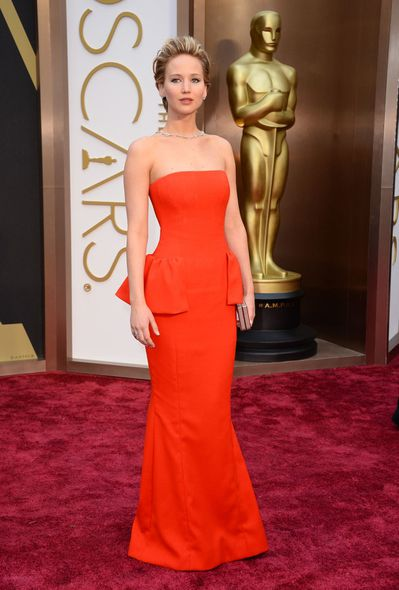 Jennifer Lawrence 2014 Oscar Red Carpet