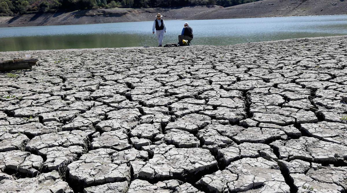 Pictured here is the dry bed of the Stevens Creek Reservoir seen on Thursday, March 13, 2014, in Cupertino, Calif.