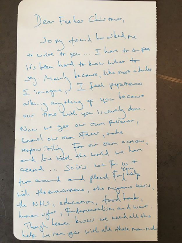 Benedict Cumberbatch Father Christmas Letter