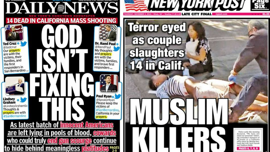 Front pages from Post and Daily News