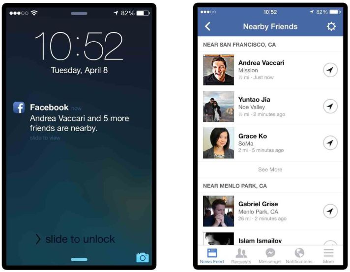 Nearby Friends : la nouvelle app de Facebook