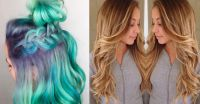 Color-melting hair seamlessly replaces the ombr trend