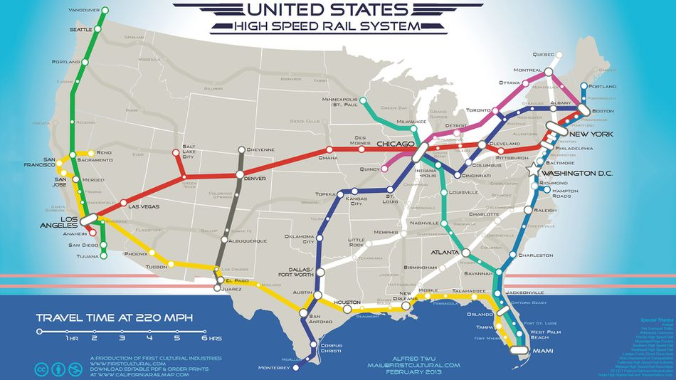 High-speed-rail-map