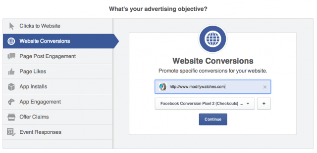 facebook objectives 2