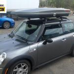 Mini Cooper With Sunroof Thule Custom Track Installation Thule 430 Tracker System Yakima Lowpro Premium Cargo Rack Attack Boston S Blog
