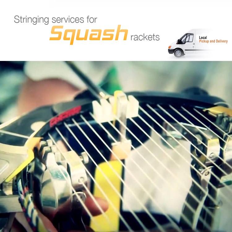 Squash racket Restringing Pickup & Delivery Service