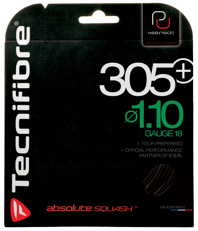 Tecnifibre 305Plus 1.10 / 1.20 BLACK Squash String