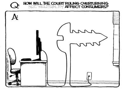 Net Neutrality verdict for dummies, Steve Breen Cartoon
