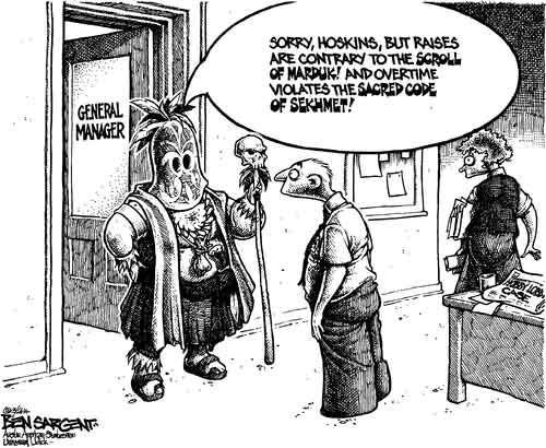 Hobby Lobby, Corporate religious intolerance, Auth Cartoon
