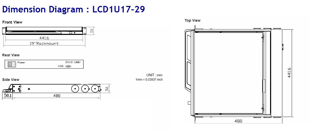 Outdoor Sunlight Readable Full HD Rack KVM LCD Drawer
