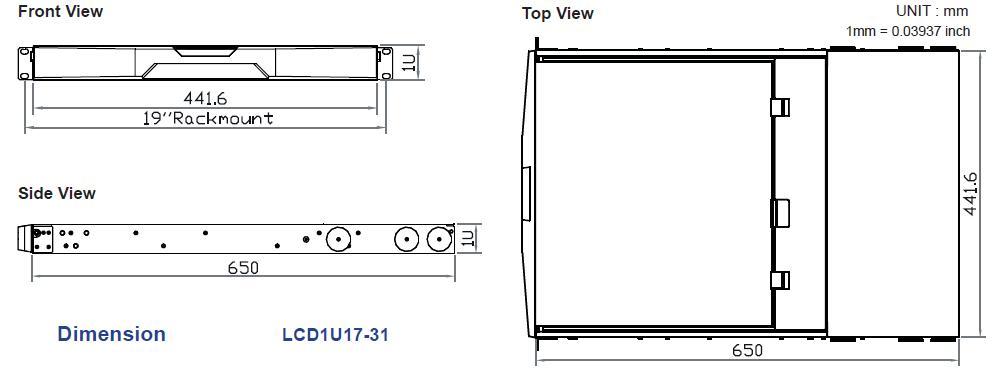LCD1U17-31 Dual Slide Rail Full HD 17