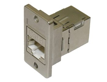 Category 6 RJ45 Panel Coupler, Shielded Female – Female
