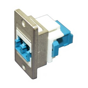 LC to LC Panel Coupler, Singlemode Duplex, Female - Female CDF-LCSM-DX
