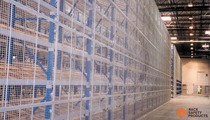 Wire Mesh Backing  Rack Safety Products