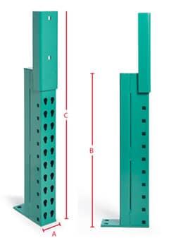 pallet rack repair kits warehouse