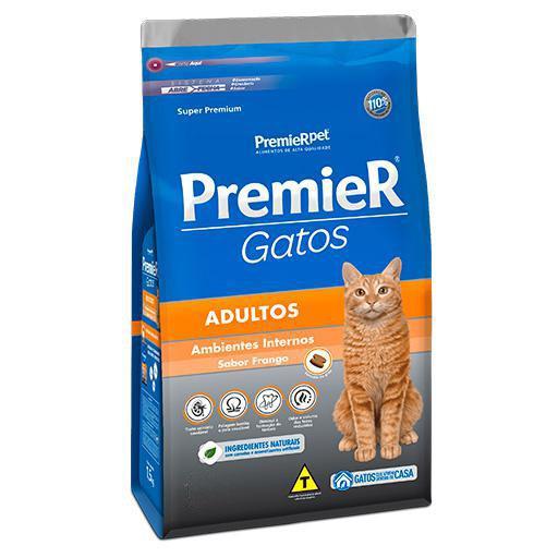 Ração Premier Gatos Adultos Ambiente Interno Frango 500grs
