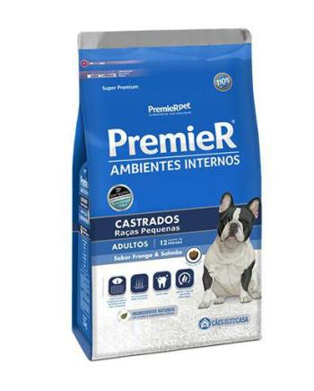 Premier Cães Adultos Ambiente Interno Castrados 2,5kg